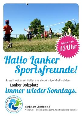Plakat Sport am Sonntag